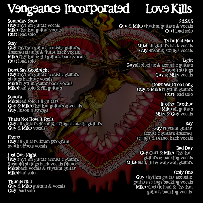 Love Kills credits