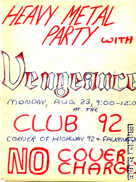 vengeance 2.0 gigs & promo