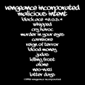 Vengeance Incorporated - Malicious Intent back cover
