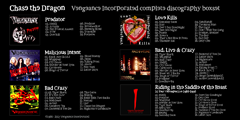 Vengeance Incorporated - Chase the Dragon box back cover - songlist